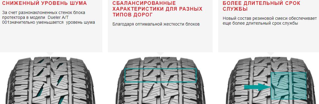 Iины Bridgestone Dueler A/T 001