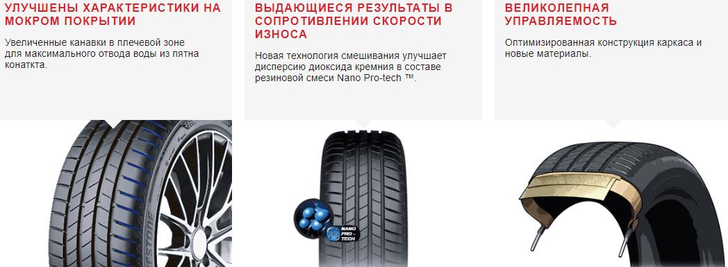Шины Bridgestone Turanza T005